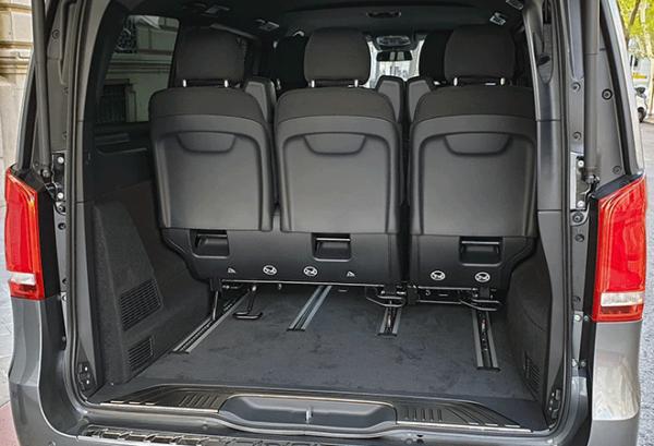 Mercedes Eqv 300 Largo e100 maletero | Total Renting