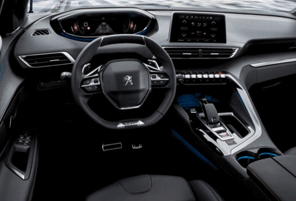 Peugeot 5008 1.5 BlueHDi SS GT EAT8 tablero | Total Renting