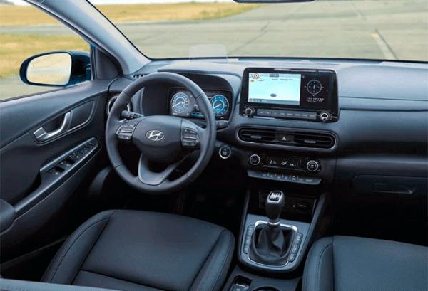 Hyundai Kona 1.6 GDI HEV Maxx DCT tablero | Total Renting