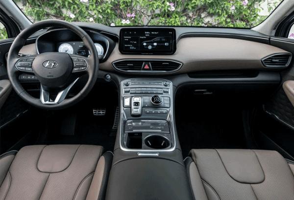 Hyundai Santa Fe 1.6 TGDI HEV Klass Auto tablero | Total Renting