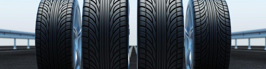 Tipos de neumáticos asimétricos, simétricos y direccionales.
